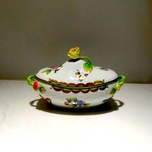 Herend Queen Victoria Covered Bonbon Candy Dish
